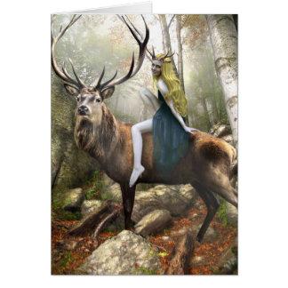 Dríada y su consorte tarjeta de felicitación