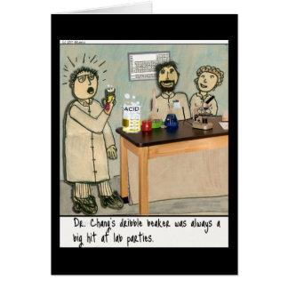 Dribble Beaker Laboratory Humor Card