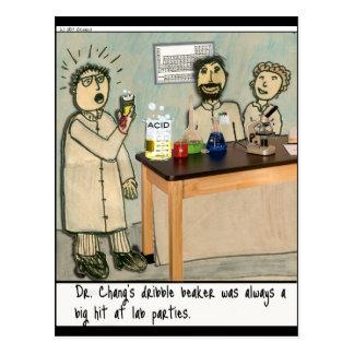 Dribble Beaker Laboratory Humor Postcard