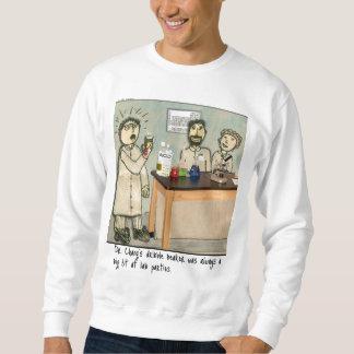 Dribble Beaker Laboratory Humor Sweatshirt