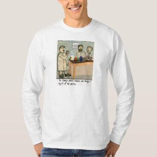Dribble Beaker Laboratory Humor T-Shirt