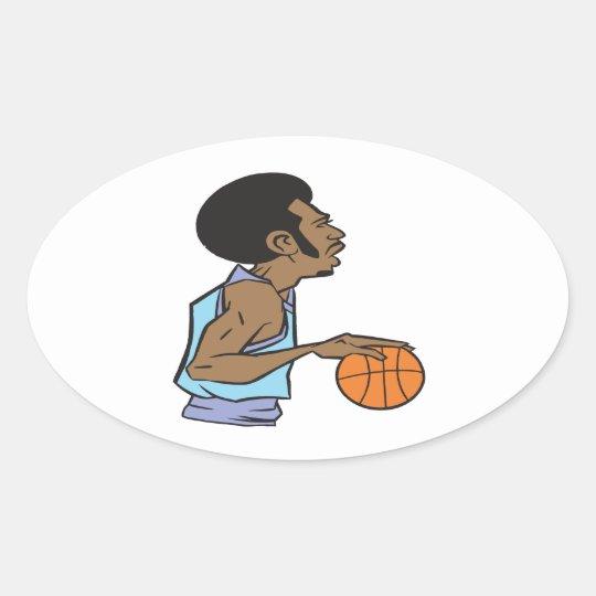 Dribble Oval Sticker