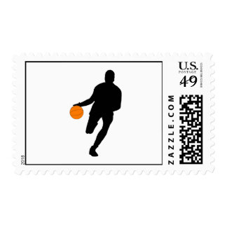 Dribble Silhouette Postage Stamp