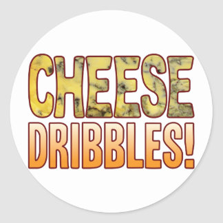 Dribbles Blue Cheese Classic Round Sticker