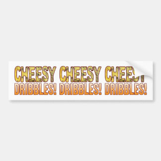 Dribbles Blue Cheesy Bumper Sticker