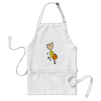 Dribbling Girl Basketball Tshirts and Gifts Adult Apron
