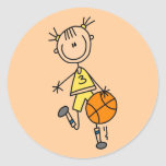 Dribbling Girl Basketball Tshirts and Gifts Sticker