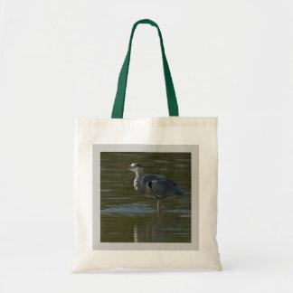 Dribbling Heron Canvas Bag