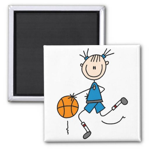 Dribbling The Basketball Magnet Refrigerator Magnets