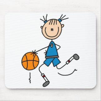 Dribbling The Basketball Mousepad