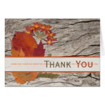 Dried Autumn Leaves and Flowers Thank You Card Cards