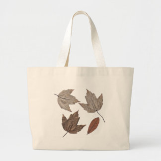 Dried Autumn Leaves Tote Bags