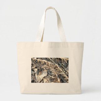 Dried Banana tree fronds background Bags