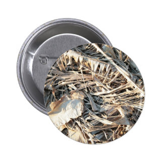 Dried Banana tree fronds background Pinback Buttons