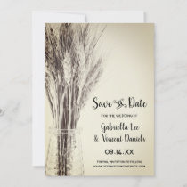Dried Barley Country Farm Wedding Save the Date
