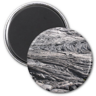 Dried Black Lava in Hawaii 2 Inch Round Magnet