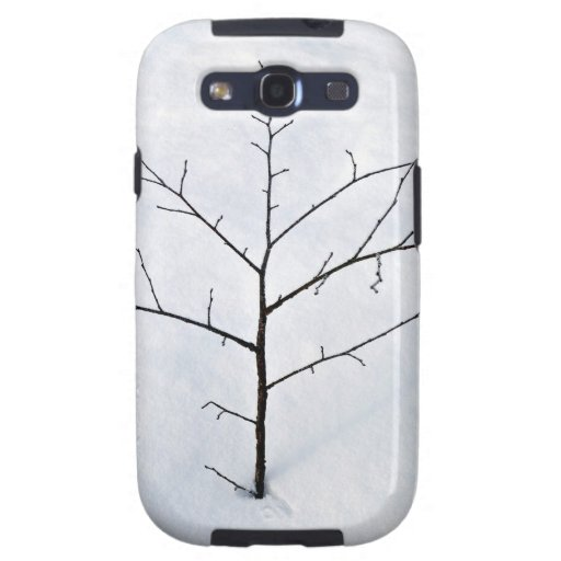 Dried branch lonely tree on a snowy landscape samsung galaxy SIII cover