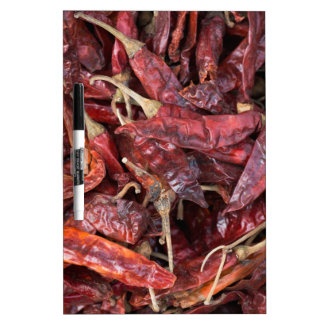 Dried Chili Peppers Dry Erase Board