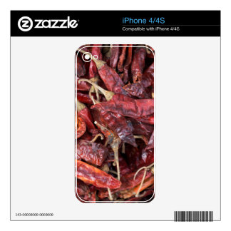 Dried Chili Peppers iPhone 4S Decals