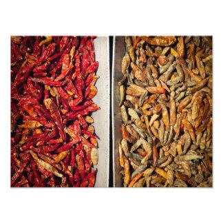 Dried chili photo print