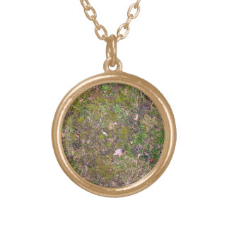 Dried Fallen Leaves on Grass Ground - Completely S Jewelry