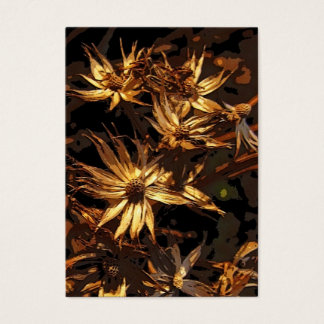 Dried Flower Abstract ATC Business Card