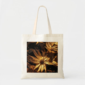 Dried Flower Abstract Canvas Bag