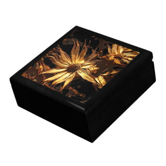 Dried Flower Abstract Keepsake Boxes