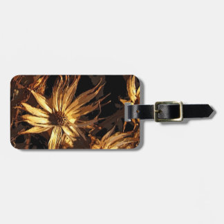 Dried Flower Abstract Luggage Tag
