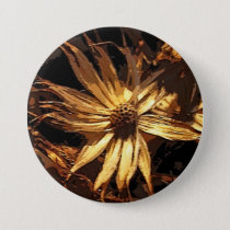 Dried Flower Abstract Pinback Button