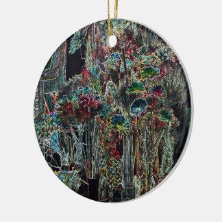 Dried Flower Explosion Ceramic Ornament