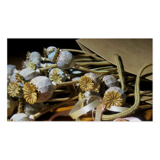 Dried Flower Poppy Pods Double-Sided Standard Business Cards (Pack Of 100)