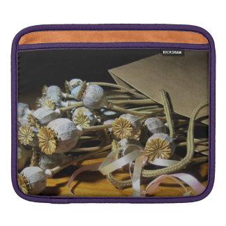 Dried Flower Poppy Pods iPad Sleeves