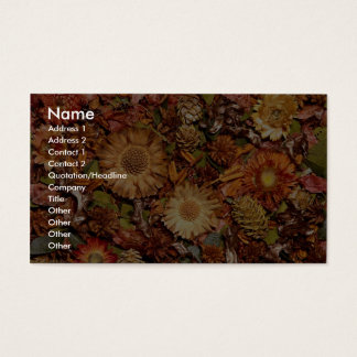 Dried flowers business card