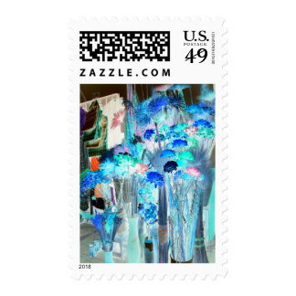 Dried Flowers in the Market Abstract Your Message Postage