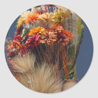 Dried Flowers in the Market Classic Round Sticker