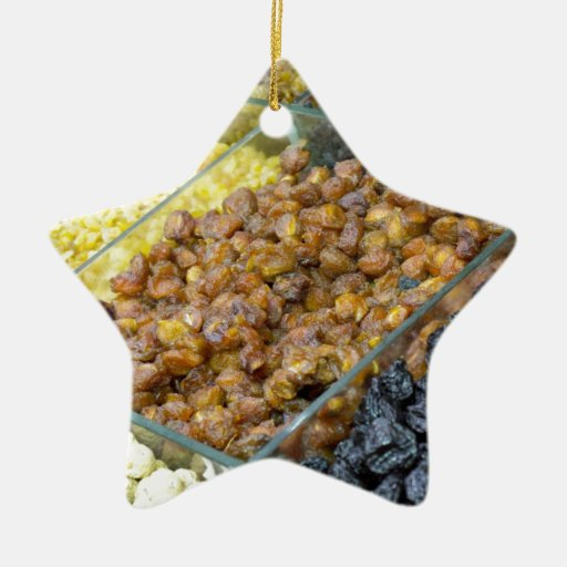 Dried fruit and nuts christmas tree ornament zazzle