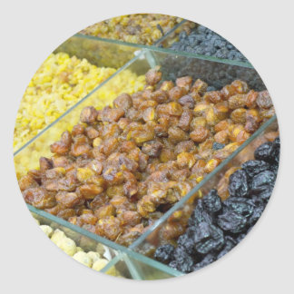 Dried fruit and nuts classic round sticker