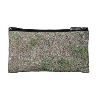 Dried grass texture cosmetic bags