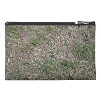 Dried grass texture travel accessory bag