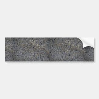 Dried grassland soil bumper sticker