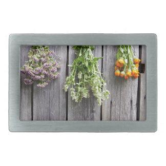 dried herbs wooden vintage grey wall belt buckle