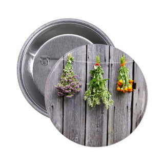 dried herbs wooden vintage grey wall pinback buttons