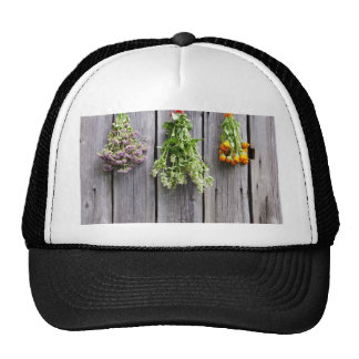 dried herbs wooden vintage grey wall hat
