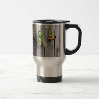 dried herbs wooden vintage grey wall mug