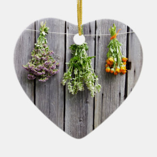 dried herbs wooden vintage grey wall ornaments