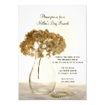 Dried Hydrangea Mother's Day Brunch Invitation