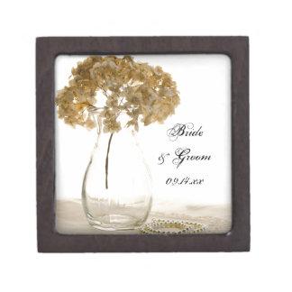 Dried Hydrangea Wedding Gift Box