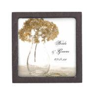 Dried Hydrangea Wedding Gift Box Premium Jewelry Box