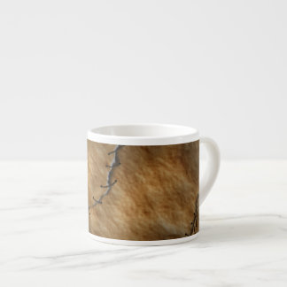Dried Leather Human Skin Espresso Cup